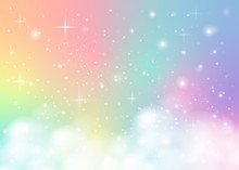 Rainbow Pastel Background