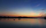 Fototapeta Sypialnia - sunset on river