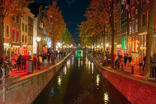Deurstickers Amsterdam Red Light District Amsterdam