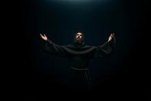 Medieval Monk Praying To The H...