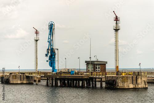 Poster Poort Gdynia port - oil terminal