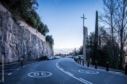 Photo  Montserrat monastery on mountain in Barcelona, Catalonia.