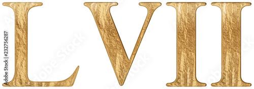 Fotografie, Obraz  Roman numeral LVII, septem et quinquaginta, 57, fifty seven, isolated on white b