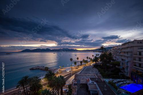 Aluminium Prints Santorini Cannes sunset
