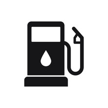 Gasoline Pump Icon, Gas Station Sign, Vector Fuel Sign