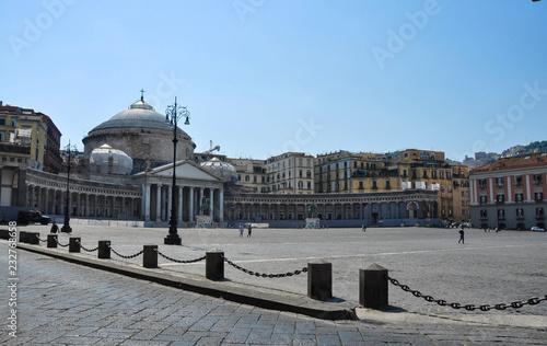 Piazza del Plebiscito is a large public square in central Naples (Italy)