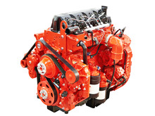 Diesel Engine For Truck And Bus Isolated White