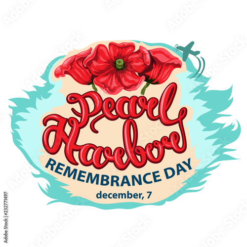 Photo  Vector illustration of a Background for Pearl Harbor Remembrance Day