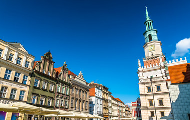 Town Hall on the Old Market Square in Poznan, Poland