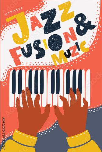recznie-rysowane-kolorowy-jazz-fusion-plakat
