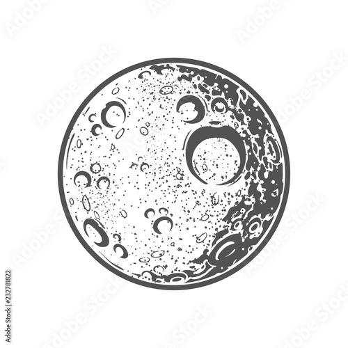 Illustration of the moon Fototapete