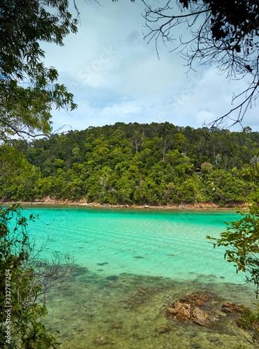 View on Gaya Island from Sapi island Canvas Print