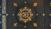 Traditional Shield Emblem Ceiling On The English Chapel