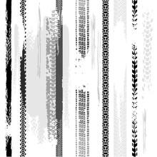 Tire Tracks Seamless Pattern