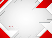 Abstract Of Futuristic Red And...