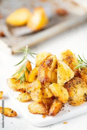 rustic golden english roasted duck fat potatoes