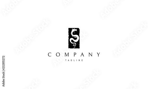 Photographie Black Dragon vector logo image