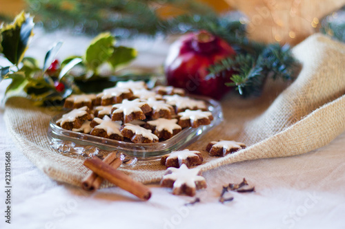 Typcial Traditional German Cinnamon Stars Biscuits For The Christmas