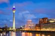 Leinwanddruck Bild - Medienhafen in Düsseldorf, Deutschland