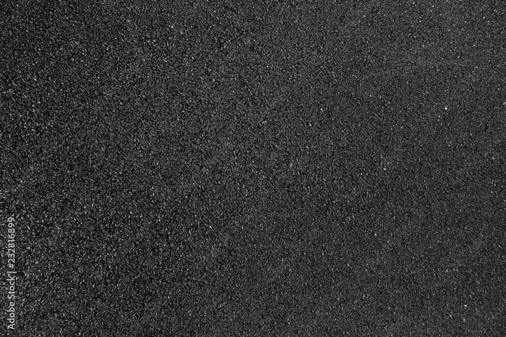 Fototapeta Black smooth asphalt road texture background top view