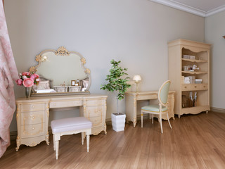 Obraz na PlexiFurniture in the bedroom, bookcase, work and dressing table.