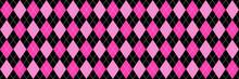 Pink And Black Argyle Background