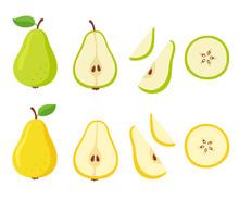 Cartoon Pear Set