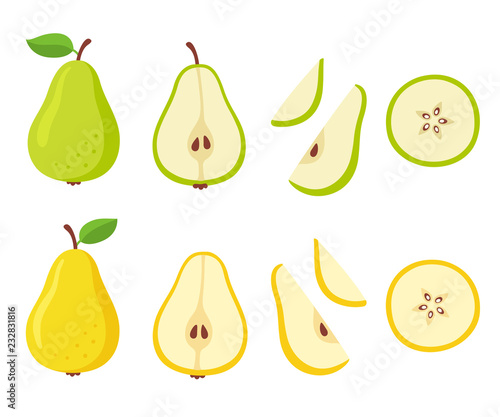 Vászonkép Cartoon pear set