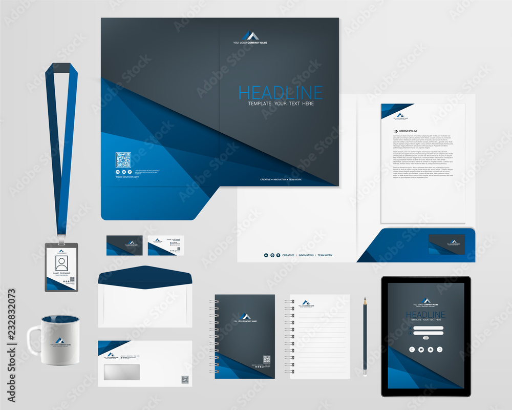 Fototapeta corporate identity template