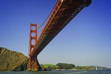 Golden Gate Bridge From The San Francisco Bay Beneath The Bridge