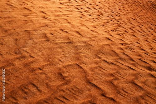 Foto op Canvas Baksteen Dune in a desert. Sand texture background