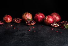 Whole Pomegranates And Section...