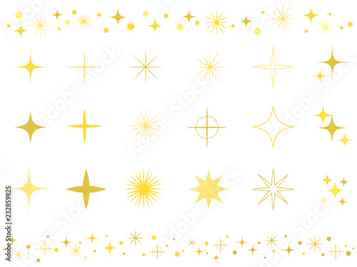 Fototapeta キラキラ光る飾り素材 obraz