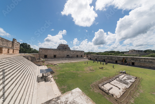 Spoed Foto op Canvas Centraal-Amerika Landen Uxmal, Pyramiden, Maya, Mexiko
