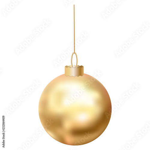 Gold christmas ball icon Wallpaper Mural