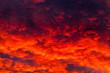 Leinwandbild Motiv Colorful dark cloudy sky. Natural photo