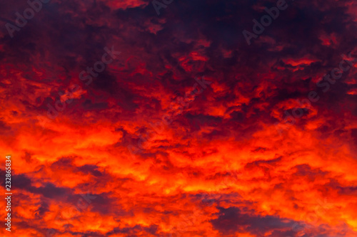 Foto op Canvas Baksteen Colorful dark cloudy sky. Natural photo