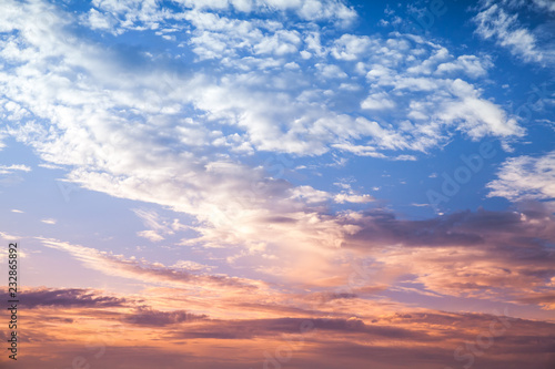 Canvas Prints Heaven Colorful cloudy sky at sunset, natural photo