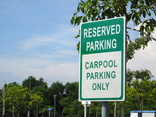 Reserved parking for people who do carpool only Canvas Print