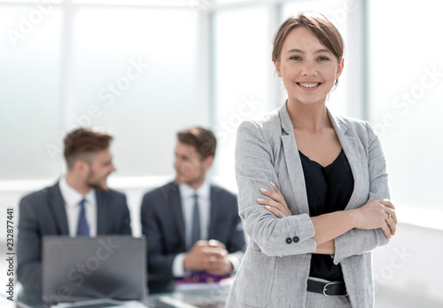 Fotografía  successful business woman standing in office