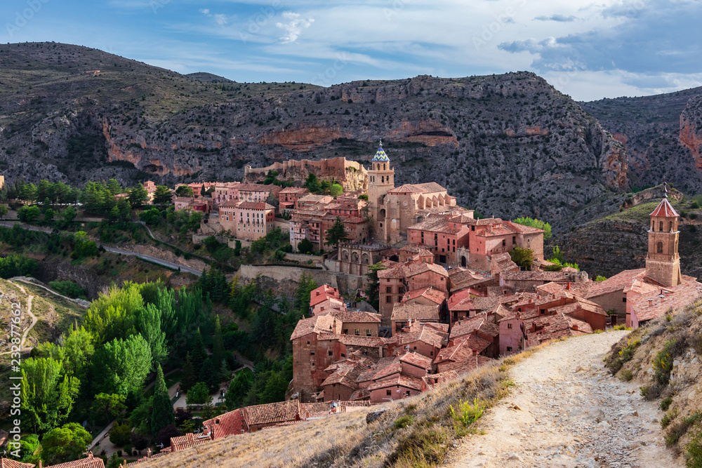 Fototapeta Panoramic view of Albarracin
