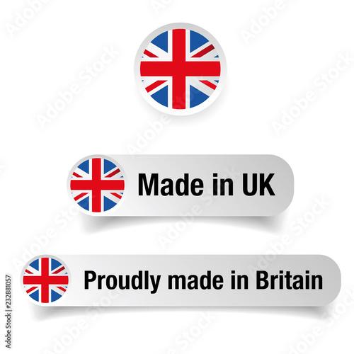 Foto Made in UK label set