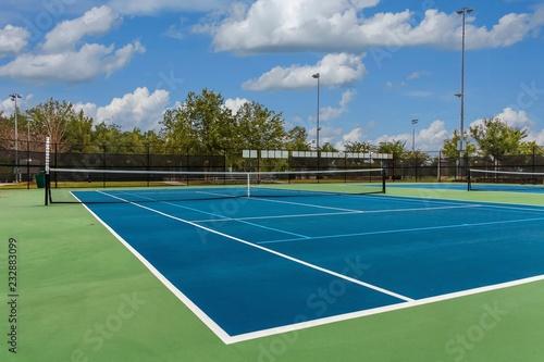 Obraz Tennis Court from Corner - fototapety do salonu