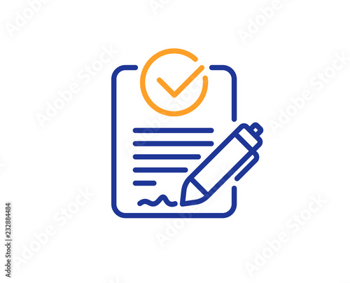 Rfp line icon. Request for proposal sign. Report document ...