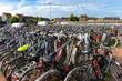 canvas print picture - Mar de bicicletas en Gante