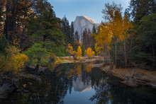 Half Dome, Yosemite, From Merced River Bridge