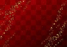 金粉と市松の和柄