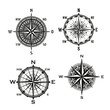 Rose of winds arrows, vector nautical compass