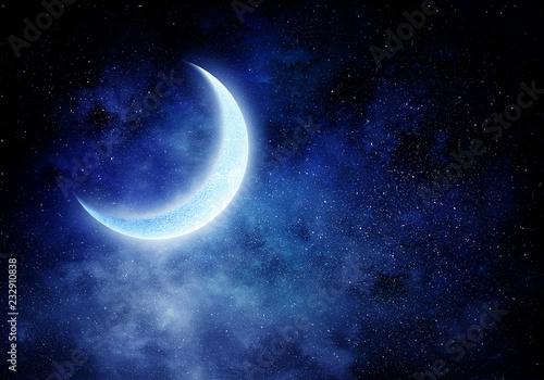 Fotografía Romantic moon in sky