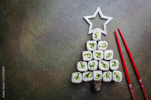 Recess Fitting Sushi bar Sushi christmas tree